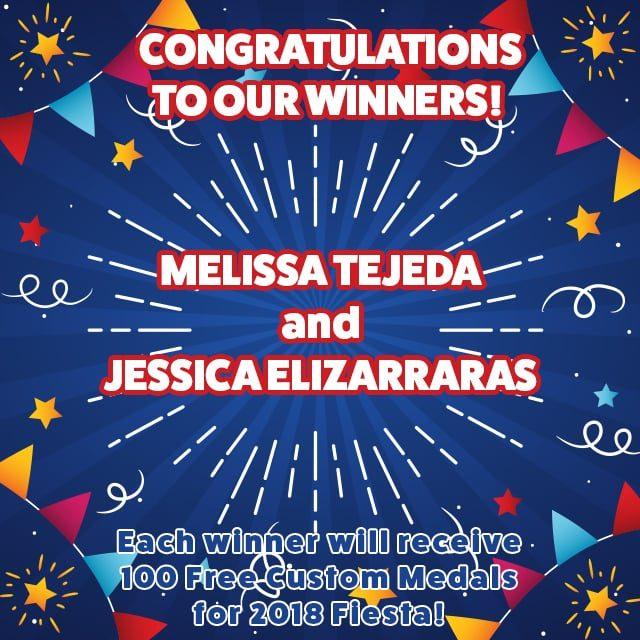 Free Fiesta Medal Winners