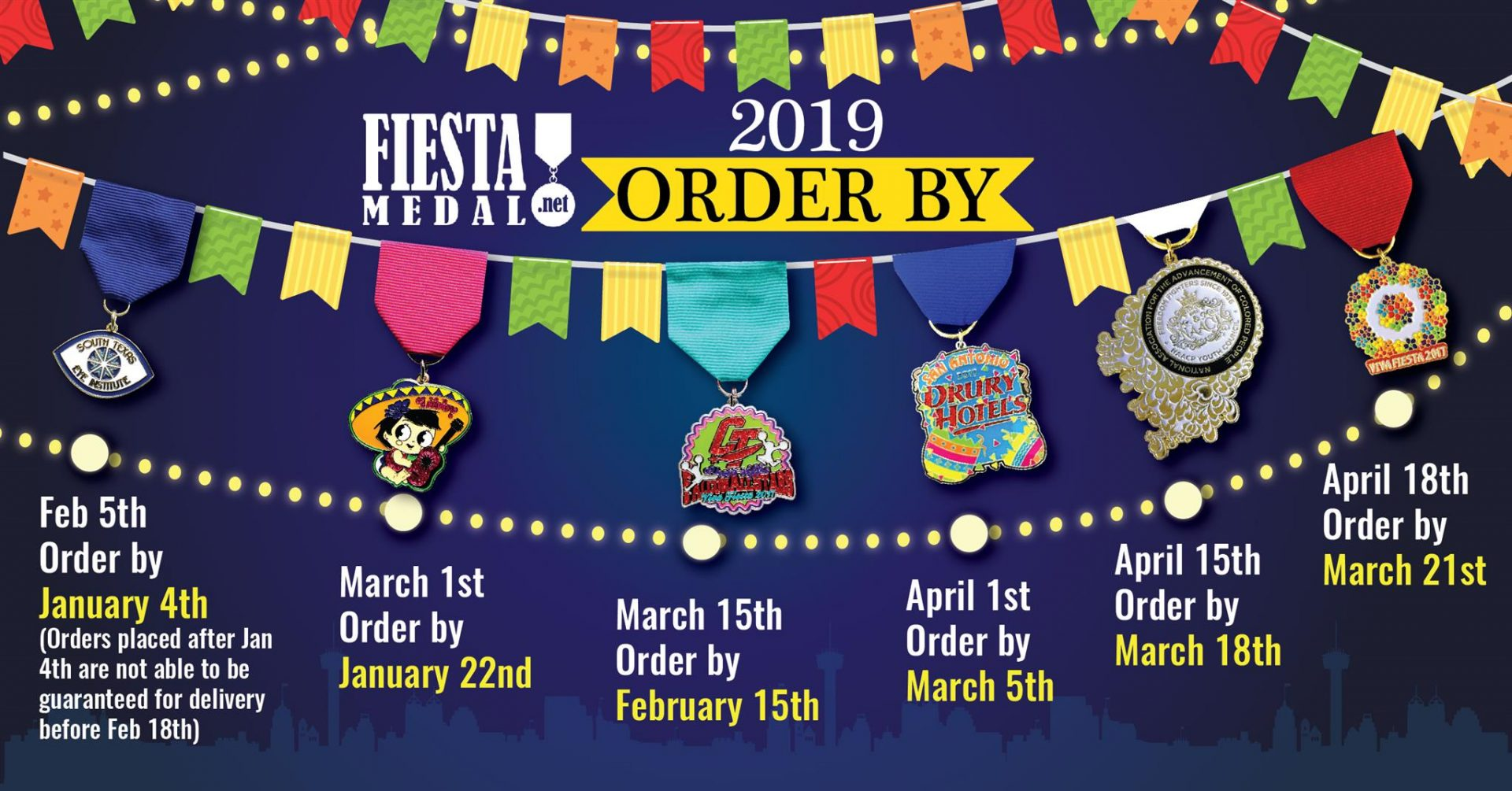 Fiesta Medal 2018 Order By Inforgraphic