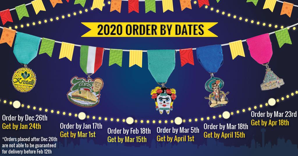 Order Your Fiesta Medals 2020 Timeline