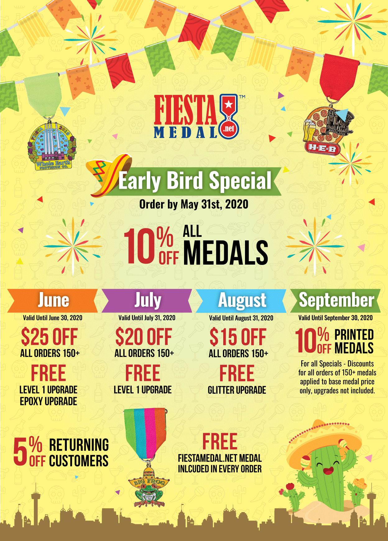 Fiesta Medal Specials